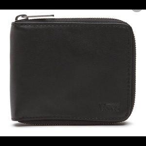 Vans Drop V ZIP Wallet NWT Black